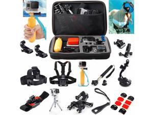 GoPro Hero 1 2 3 3+ 4 Accessories Kit Head Chest Floating Monopod Strap Mount