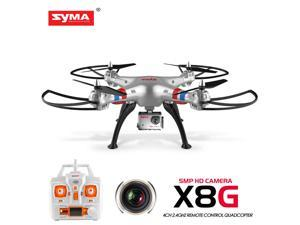 Syma X8G RC Quadcopter Drone 2.4Ghz 4CH with 5MP HD Camera + 3 Batteries