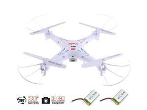 2 Batteris + Syma X5C-1 4 Channel 2.4GHz Explorers RC Quadcopter Drone with Camera