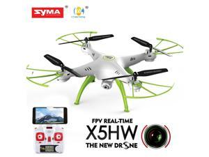 Syma X5HW FPV 4CH RC Quadcopter Drone with HD Wifi Camera Hover Function - White