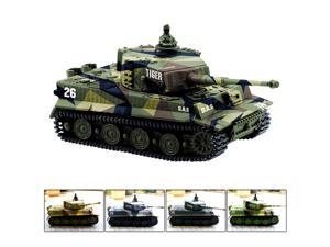 1:72 Radio Remote Control Mini Rc German Tiger I Panzer Tank with Sound Toys