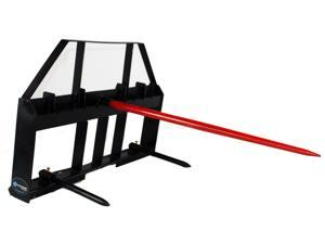 Titan Skid Steer Hay Spear Attachment 3,000 lbs Capacity Forklift Pallet Fork