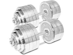 Titan Adjustable Weight Chrome Dumbbells Set 200 lbs Pair 100 lbs Dumbbell x 2pc