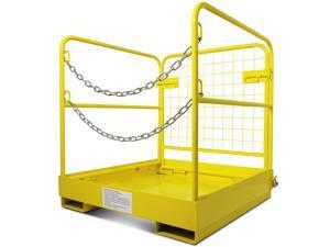 """Forklift Safety Cage Work Platform Collapsible Lift Basket Aerial Rails 36""""x36"""""""