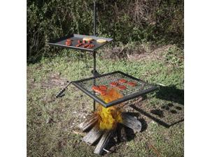Titan Campfire Adjustable Swivel Grill Fire Pit Cooking Grate Griddle Plate BBQ