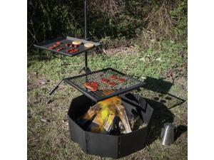"Titan Campfire Adjustable Swivel Grill Cooking Grate Griddle 40"" Fire Pit Ring"