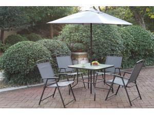 Poundex 6-Pcs Steel Frame Outdoor Patio Dining Set