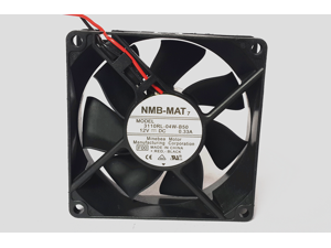 NMB-MAT 3110RL-04W-B50 8025 8cm 80mm DC 12V 0.33A server inverter axial cooling fan blowers 2-wire case cooler