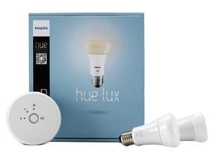 Philips 453761 Hue Lux 60W Equivalent A19 LED Personal Wireless Lighting Starter Kit - 1st Generation