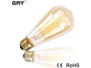 Edison Vintage ST64 110V-130V 60W E26 Light Glass Lamp Bulb Incandescent