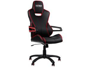 Nitro Concepts E200R-BR Soft PU Leather Cover Gaming/Office Chair (Black/Red)