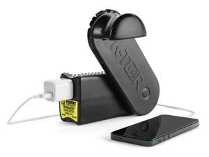 K-Tor hand crank generator charges all cell phones and most portable electronics, 10 watts, made in the USA