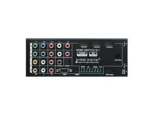 J-Tech Digital ® Latest Generation Multi-Functional HDMI Audio Extractor with 8 Inputs to 1 HDMI Output with Optical / Coaxial 5.1 Channel Support 3D & Surround Sound