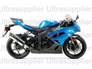Blue w/ Black Fairing Bodywork Injection for 2009-2012 Kawasaki Ninja ZX6R