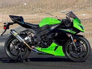 Green Black Fairing Bodywork Injection for 2009-2012 Kawasaki Ninja ZX6R