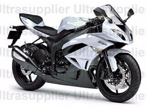 Black & White Fairing Bodywork Injection ABS for 2009-2012 Kawasaki Ninja ZX6R