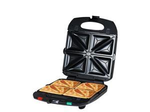 ZZ SM431-B 4-in-1 Sandwich Maker with Removable Non-Stick Plates 1200W - Black