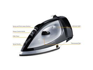 ZZ ES223 1100-Watt Auto-Off Steam Iron with Automatic Cord Rewind System - Black