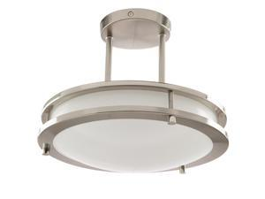 """12"""" 15W 120 Volt Band Trim Fixture Brushed Nickel Energy Star Dimmable"""