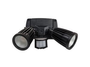 20W 120 Volt LED Motion & Photo Sensors Fixture Black