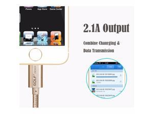 [Apple MFI Certified]  Lightning Cable Charging Cable Data & Sync Charging Cord 8-Pin Lightning to USB Cable Charger for iPhone 7/ 7 Plus/6/6s/6 plus/6s plus, iPhone 5/5s/5c,iPad, iPod- Gold 6.5FT