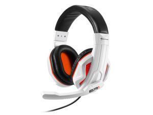 SHARKOON ER1 White/Orange 3.5mm Jack ,Circumaural Stereo Gaming Headset,Inline volume controller,Omnidirectional Microphone.
