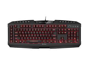 SHARKOON Skiller PRO+ Gaming Keyboard 7 Colors Programmable LED Illumination Macro Keys Gaming Software Multimedia Keys Onboard Memory Multi-key Rollover Support