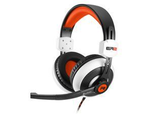 SHARKOON ER2 White/Orange 3.5mm Jack ,Circumaural Stereo Gaming Headset,Inline volume controller.