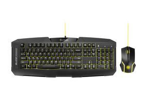 SHARKOON SHARK ZONE GK15 Gaming keyboard+mouse bundle multi-color LED Multi-key rollover support multimedia Function keys Integrated palm rest 3,200 DPI Symmetric design