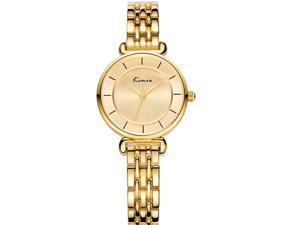 KIMIO Women's Watch Hidden Clasp High Quality Alloy Chain Quartz Movement Gold