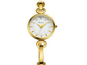 KIMIO Women's Bracelet Watch Elegant Concise Fashion Type KW6103 Gold White