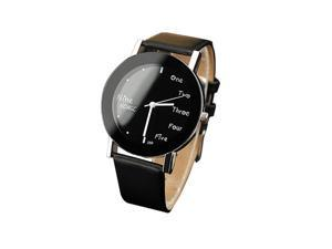 Mens  Fashion Casual Watches Round Dial Cheap New WW0250 Black