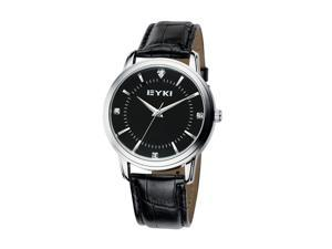 EYKI Mens Luxury Classical Wrist Watch Round Dial Anolog Dial Fashion Watches EW8599 Black