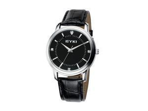 EYKI Mens Luxury Classical Wrist Watch Round Dial Anolog Dial Fashion Watches EW8599 Black