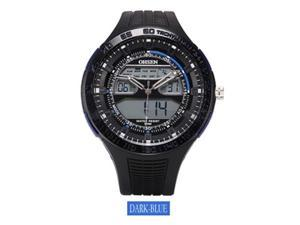 OHSEN Mens Sports Casual Watches Date Day Alarm Display Alarm Watch OW2803 Dark Blue