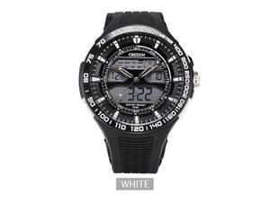 OHSEN Mens Sports Casual Watches Date Day Alarm Display Alarm Watch OW2803 White