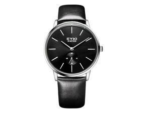 EYKI Mens Quartz Watches Leather Strap Stylish Casual Watch EW1026 White