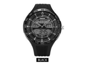 OHSEN Mens Sports Casual Watches Date Day Alarm Display Alarm Watch OW2803 Grey