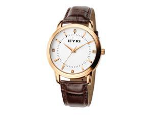 EYKI Mens Luxury Classical Wrist Watch Round Dial Anolog Dial Fashion Watches EW8599  Gold