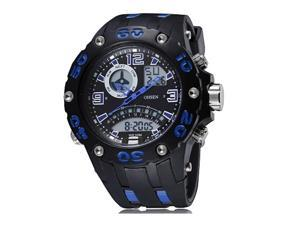 OHSEN Mens Sports Casual Wathes Date Stopwatch Alarm Fashion Army Watch OW2801 Dark Blue