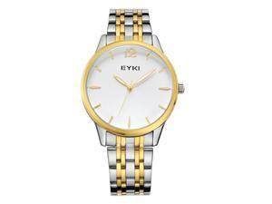 EYKI Mens Sports Quartz Watch Anolog Display Stainless Steel Luxury Watch EW8853 Gold