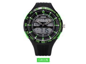 OHSEN Mens Sports Casual Watches Date Day Alarm Display Alarm Watch OW2803 Green