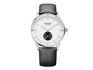 EYKI Mens Sports Wrist Watches Quartz Business Luxury Fahsion Watch EW1030 Black