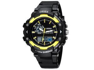 OHSEN Mens Digital Sports Wrist Watches Date Chronograph Good Quality Watch OW1506 Yellow