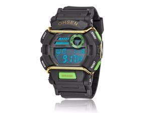OHSEN Mens Sports Digital LCD Wrist Watches Fashion Casual Watch OW1602 Green