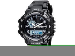 OHSEN Mens Digital Sports Wrist Watches Date Chronograph Good Quality Watch OW1506 Black