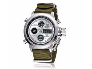 OHSEN Mens Digital Quartz Fashion Watches Sports Casual Watch OW1601 White