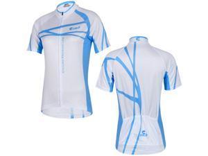 CHEJI Women Cycling Jersys Short Sleeve Blue Riding Clothing