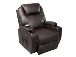 Ergonomic Deluxe Massage Sofa Chair Lounge Executive Heated w/ Control Brown