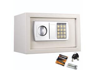 "12.5"" Electronic Keypad Digital Lock Safe Box Cash Jewelry Gun White USA Stock"